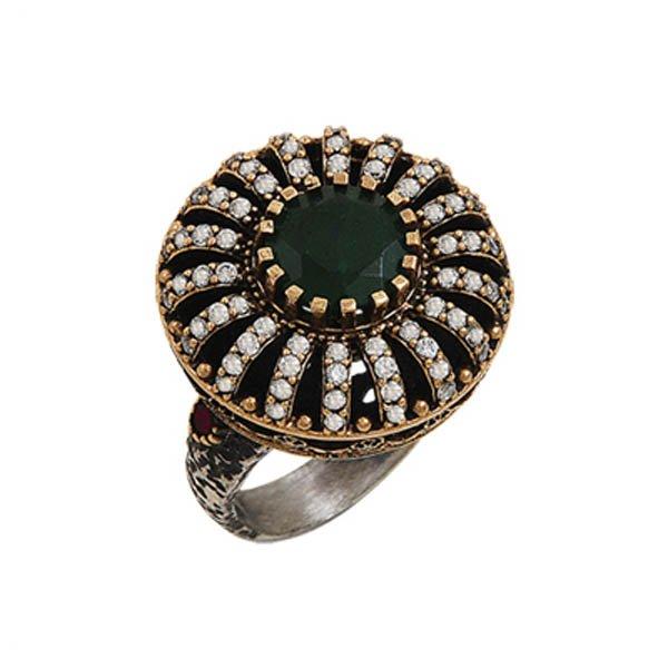Ottoman Style CZ Ring - R00042