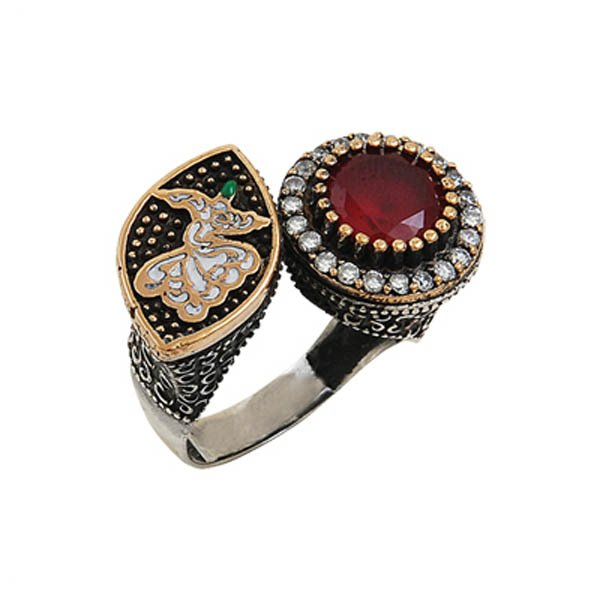 Ottoman Style Whirling Dervish CZ Ring - R00073