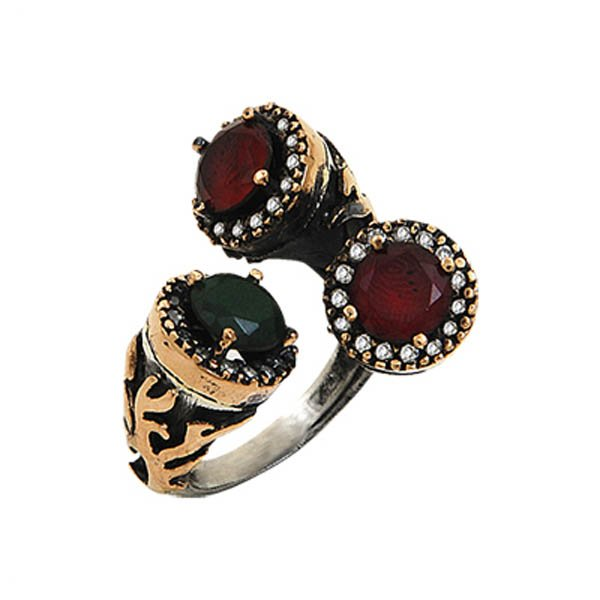 Ottoman Style CZ Ring - R00081