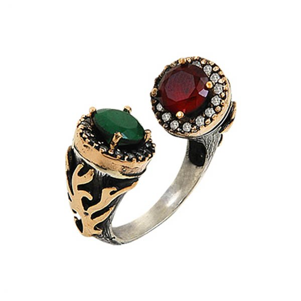 Ottoman Style CZ Ring - R00082