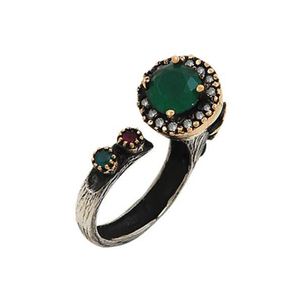 Ottoman Style CZ Ring - R00083