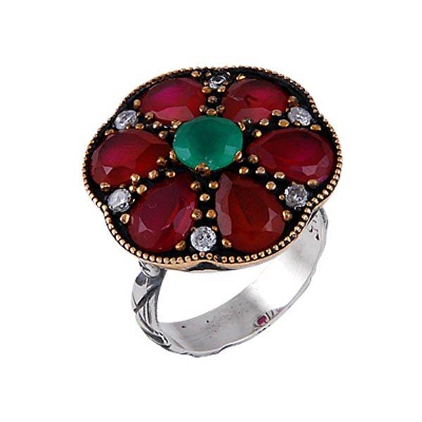 Ottoman Style CZ Ring - R00115