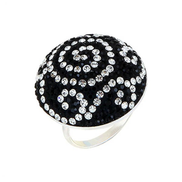 CZ Silver Round Ring - R00314