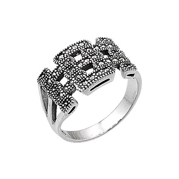 Silver Marcasite Ring - R00434