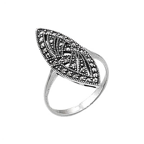 Silver Marcasite Ring - R00437