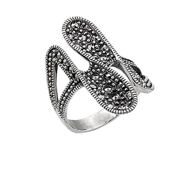 Silver Marcasite Ring - R00438