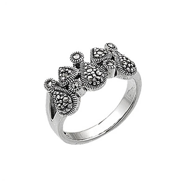 Silver Marcasite Ring - R00442