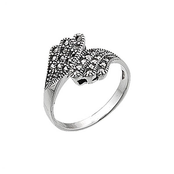 Silver Marcasite Ring - R00443