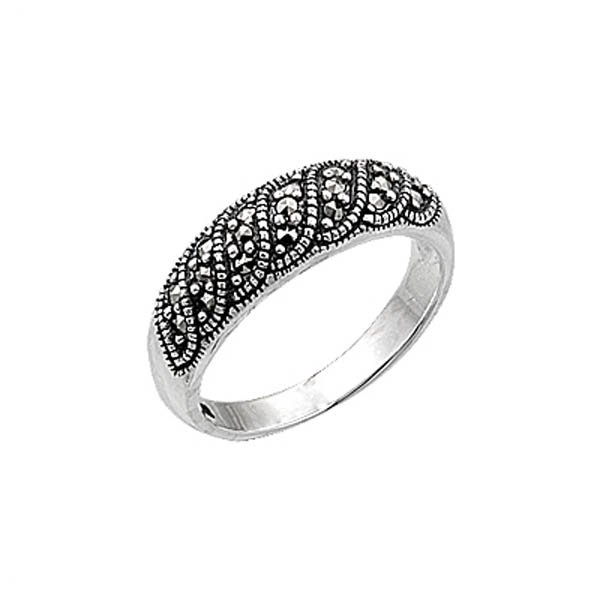 Silver Marcasite Ring - R00444