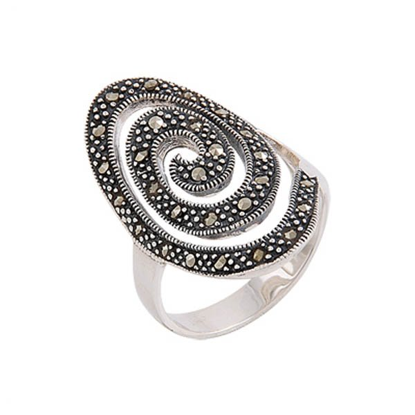 Silver Marcasite Ring - R00462