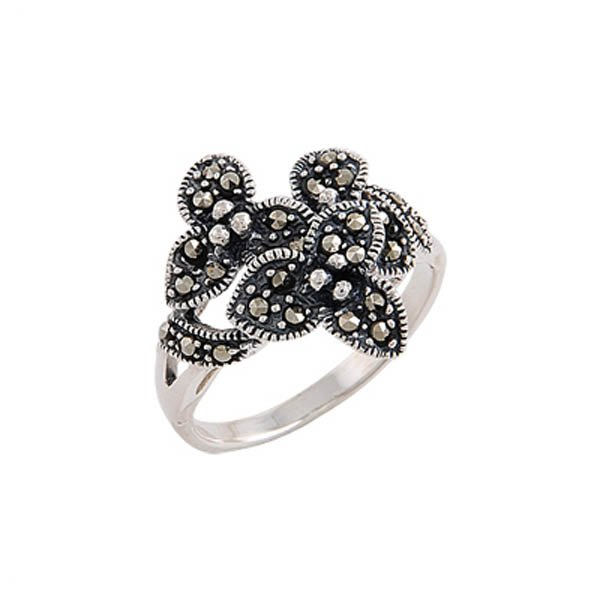 Silver Marcasite Ring - R00465