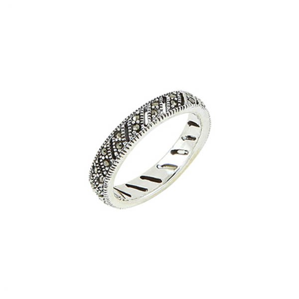 Silver Marcasite Ring - R00475