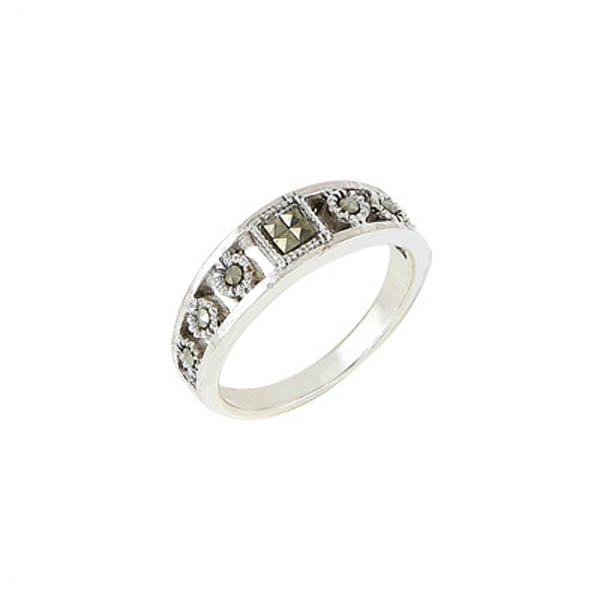Silver Marcasite Ring - R00482