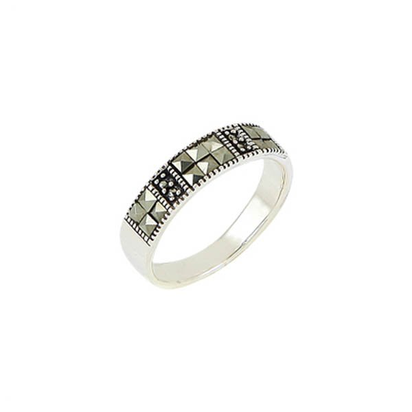 Silver Marcasite Ring - R00483