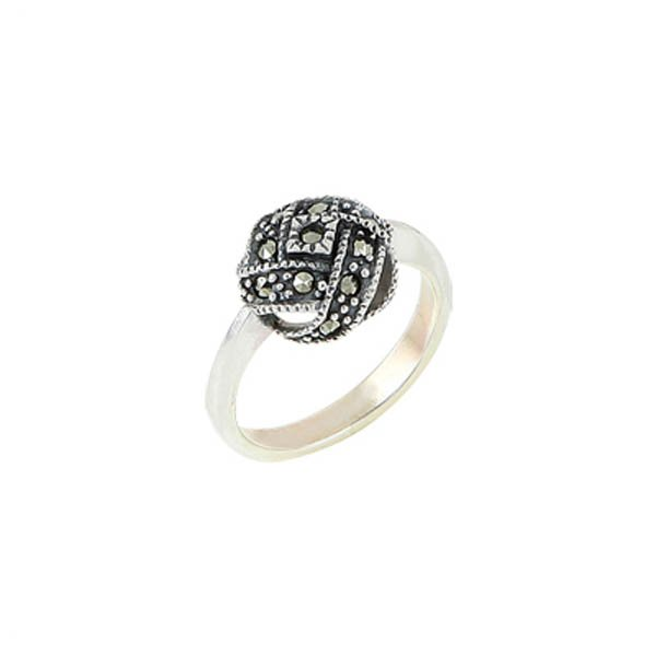 Silver Marcasite Ring - R00485