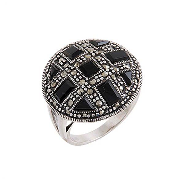 Enamel Marcasite Ring - R00511
