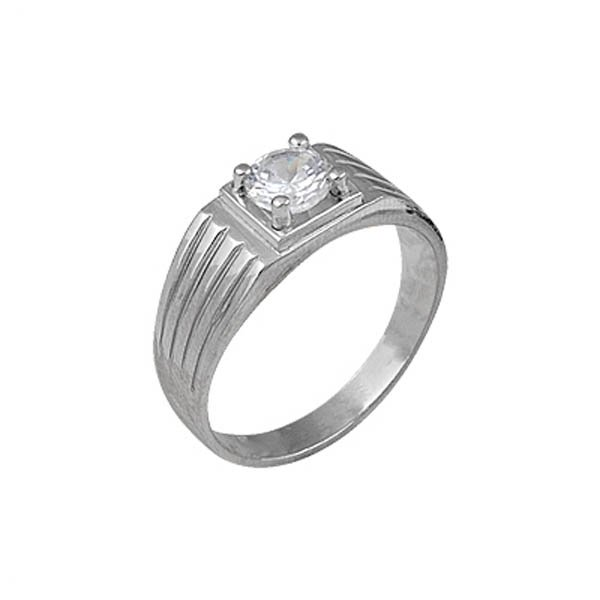 Rhodium Plated Silver Ring - R00621