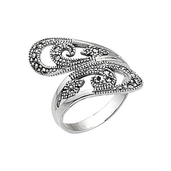 Silver Marcasite Women Ring - R05047