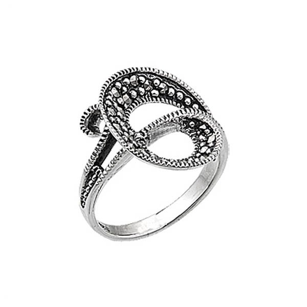 Silver Marcasite Women Ring - R05050