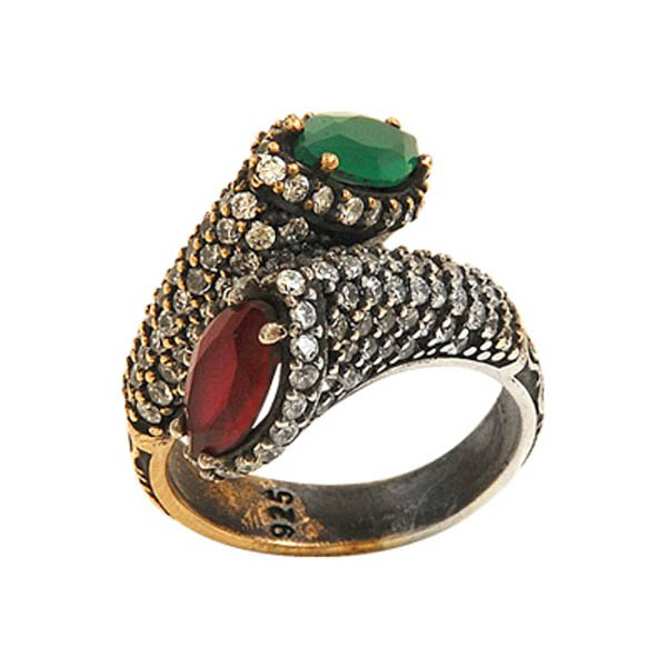 Ottoman Style CZ Ring - R08047