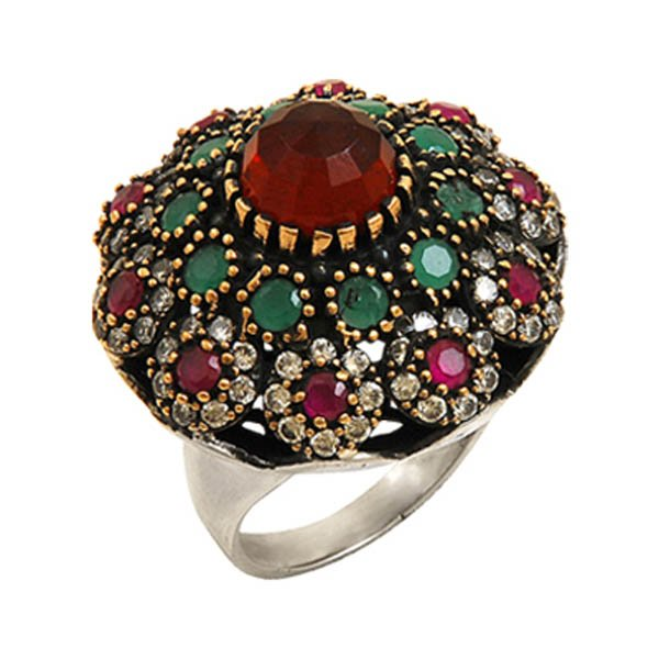 Ottoman Style CZ Ring - R08070