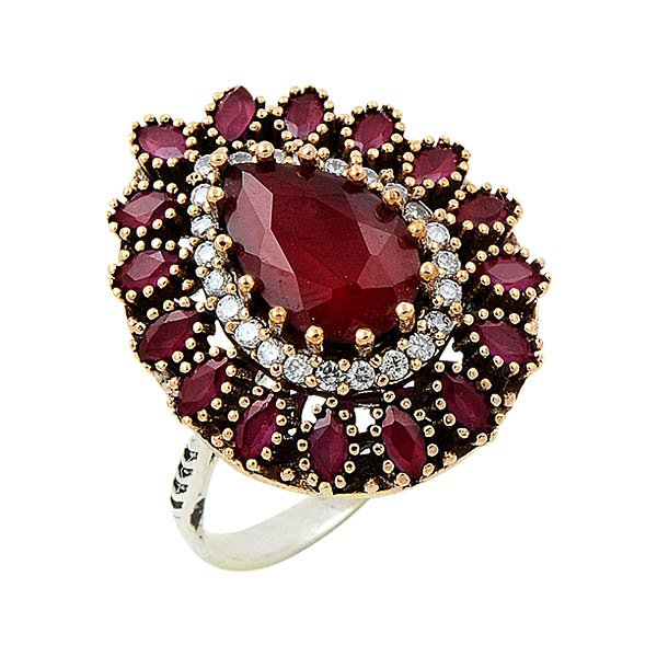 Ottoman Style CZ Ring - R08648