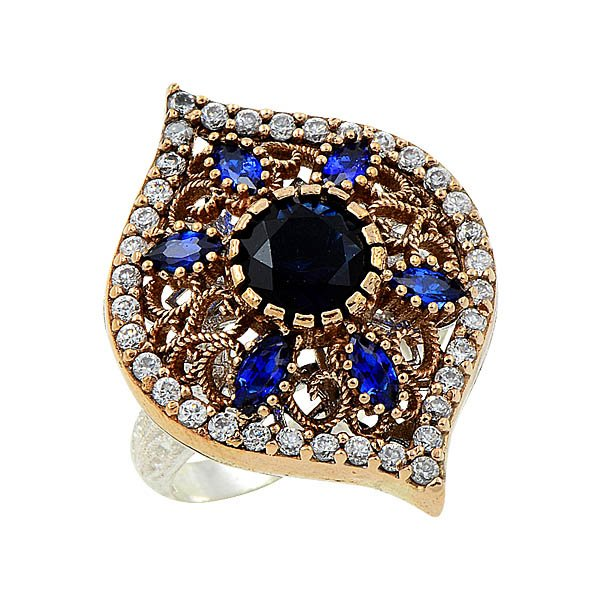 Ottoman Style CZ Ring - R08652