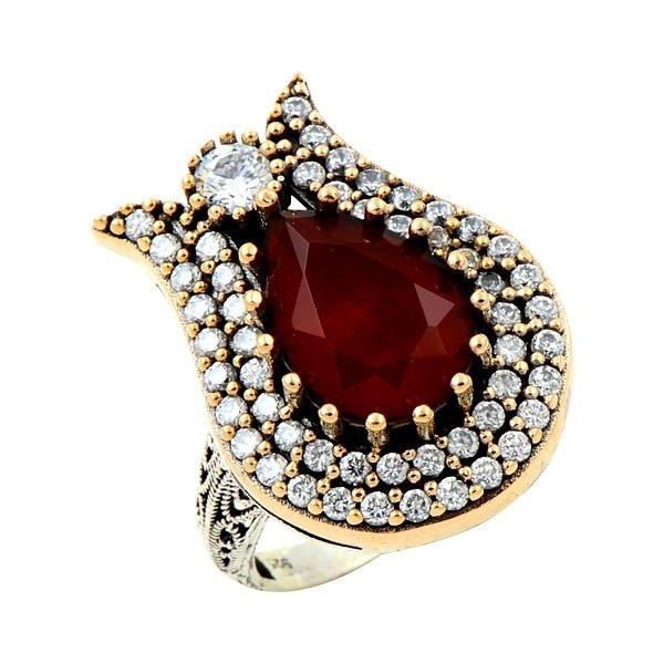 Ottoman Style CZ Ring - R08659