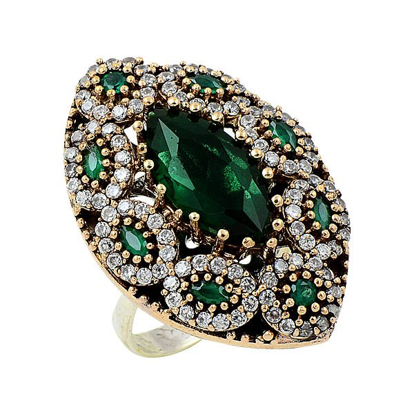 Ottoman Style CZ Ring - R08662
