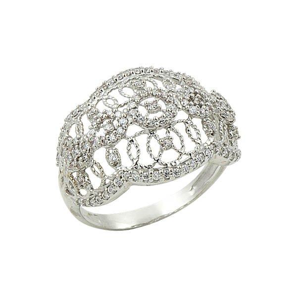Silver Zircon Ring - R09004