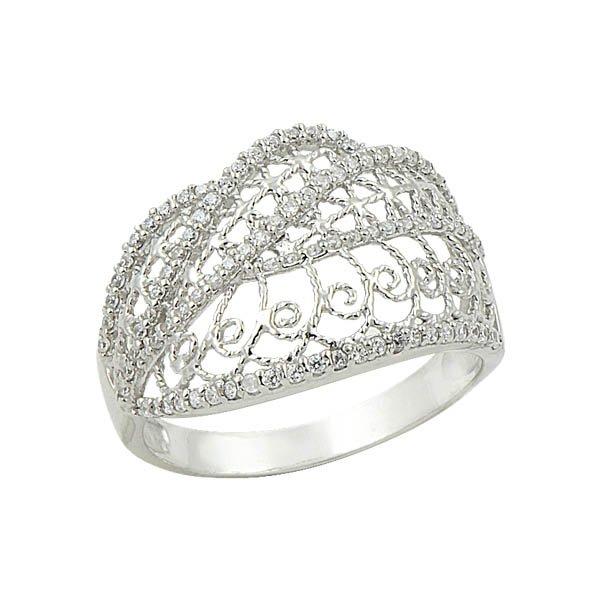 Silver Zircon Ring - R09012