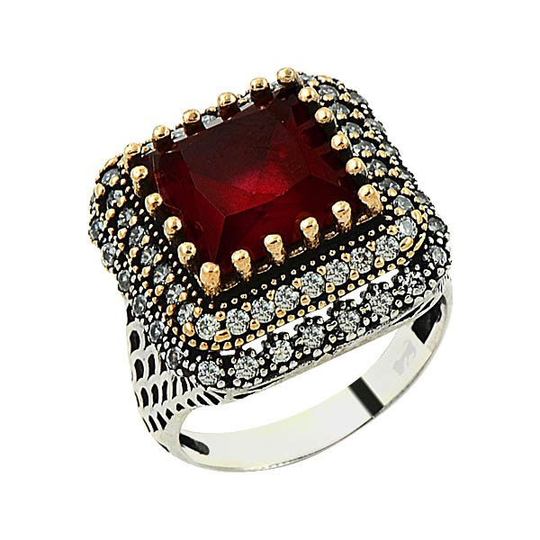 Ottoman Style CZ Ring - R09130
