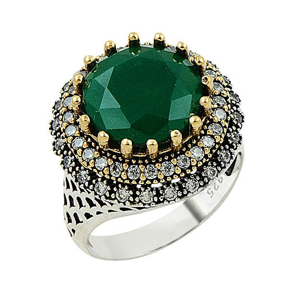 Ottoman Style CZ Ring - R09133