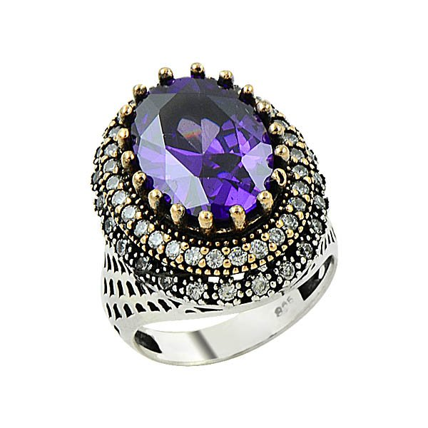 Ottoman Style CZ Ring - R09134