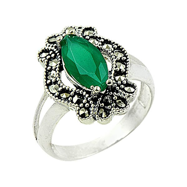 Silver Marcasite Ring - R09271