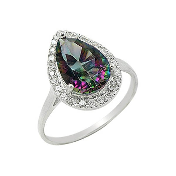 CZ & Mystic Topaz Ring - R09419