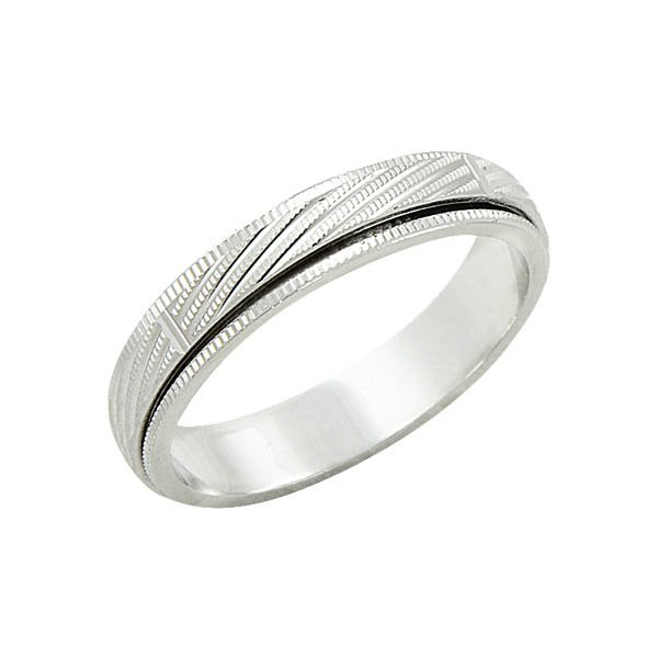 Sterling silver anti stress wedding ring wr09021 sile for Anti wedding ring