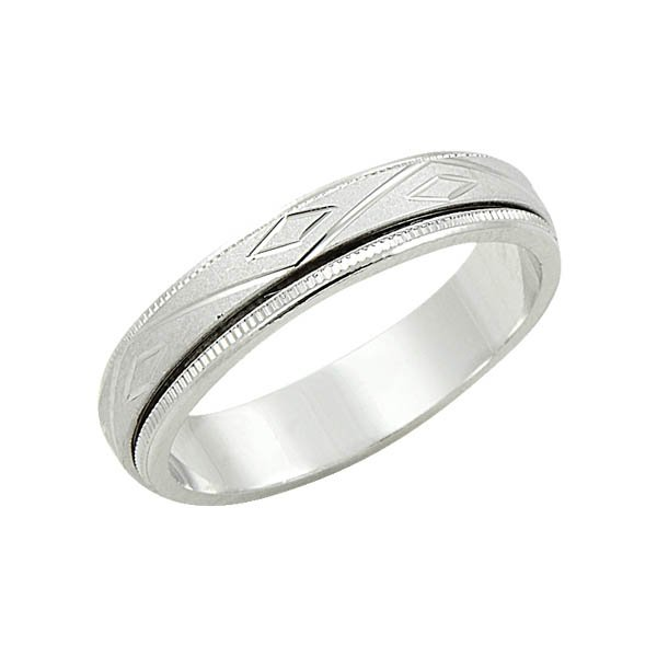 Sterling silver anti stress wedding ring wr09023 sile for Anti wedding ring
