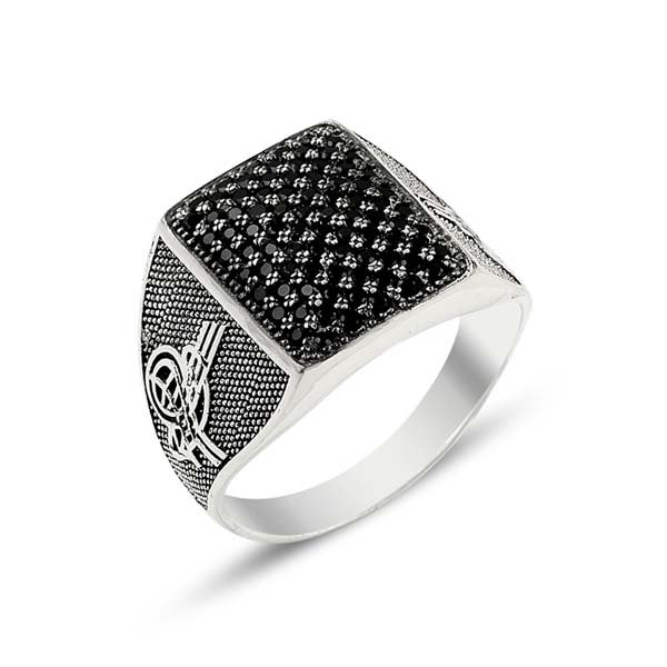 SILVER MENS RING - R13794